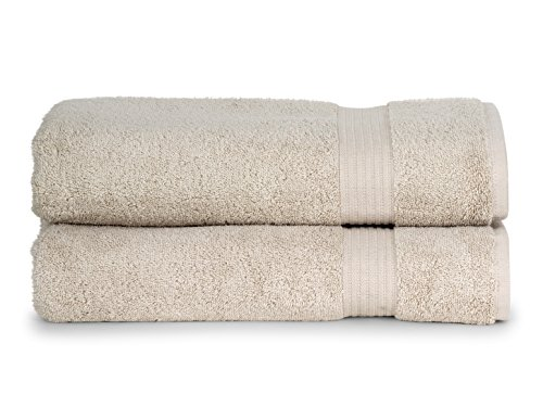 TowelSelections Blossom Collection Soft Towels 100% Turkish Cotton Birch 2 Bath Towels