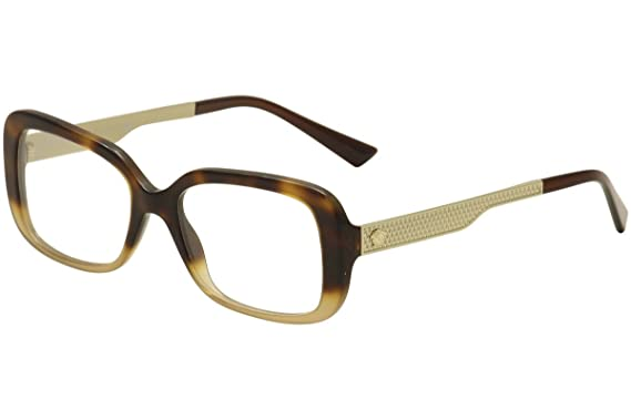 Amazon.com: Versace Eyeglasses VE3241 VE/3241 5205 Havana/Gold/Brown ...