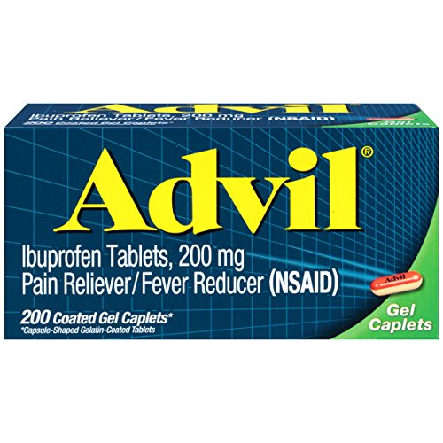 Advil Coated Gel Caplets, Pain Reliever and Fever Reducer, Ibuprofen 200mg, 200 Count