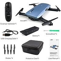 Foldable Pocket Drone,Nesee JJRC H47 Foldable Pocket Drone Mini FPV Quadcopter Selfie 720P WiFi Camera (Blue)
