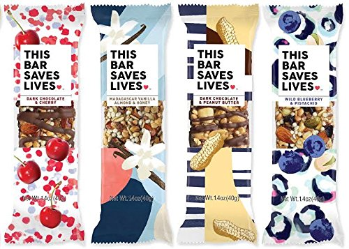 Gluten Free Granola Breakfast Bar, 8 Bar Variety Pack by This Bar Saves Lives, 1.4 oz
