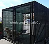 10' X 10' Dark Green UV Rated Dog Kennel Shade Cover, Sunblock Shade Panel, Shade Tarp Panel W/Grommets (Not the kennel)