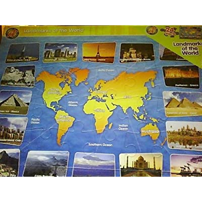 Landmarks Of The World Puzzle: Toys & Games