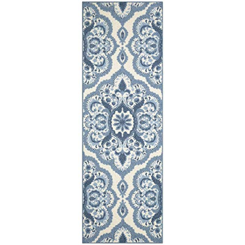 Maples Rugs Runner Rug - Vivian 2 x 6 Non Skid Hallway Carpet Entry Rugs Runners [Made in USA] for Kitchen and Entryway, 2' x 6', -