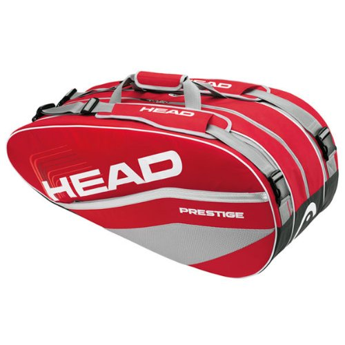 HEAD Tennistasche Prestige Combi 50 Liter, Rot/Grau, 22 x 77 x 30 cm, 283162