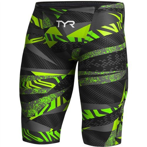 TYR APM6A Men's Avictor Prelude Jammer, Black/Green - 30 by TYR