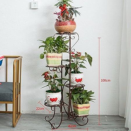 Amazon Com Tdlc Continental Iron Flower Rack Multi Level Indoor