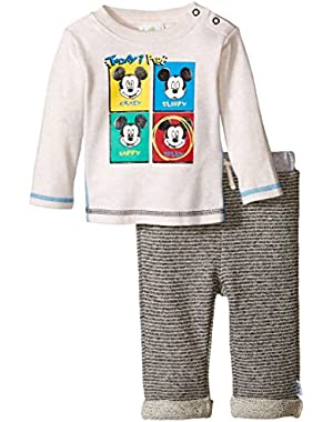 Baby Boys' Mickey Mouse Todays Feel 2 Piece Pant Set