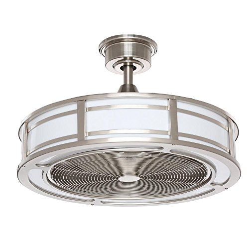 Home Decorators Collection Brette 23 in. LED Indoor Outdoor Brushed Nickel Ceiling Fan
