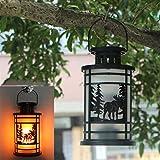 YJYdada Hanging Lantern Flame Lamp Decor Light Vintage Party Castle Halloween Pumpkin (C)