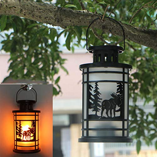 YJYdada Hanging Lantern Flame Lamp Decor Light Vintage Party Castle Halloween Pumpkin (C) by YJYdada