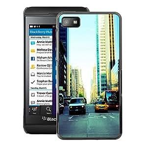 For Blackberry Z10 Case , NYC Traffic - Diseño Patrón Teléfono Caso Cubierta Case Bumper Duro Protección Case Cover Funda