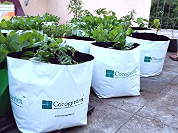 Cocogarden Medium Size Poly Growbags -Uv Stabilized -8 Qty