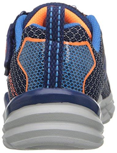 Skechers Kids Rive-Start Up Athletic Sneaker (Little Kid/Big Kid) Navy/Orange
