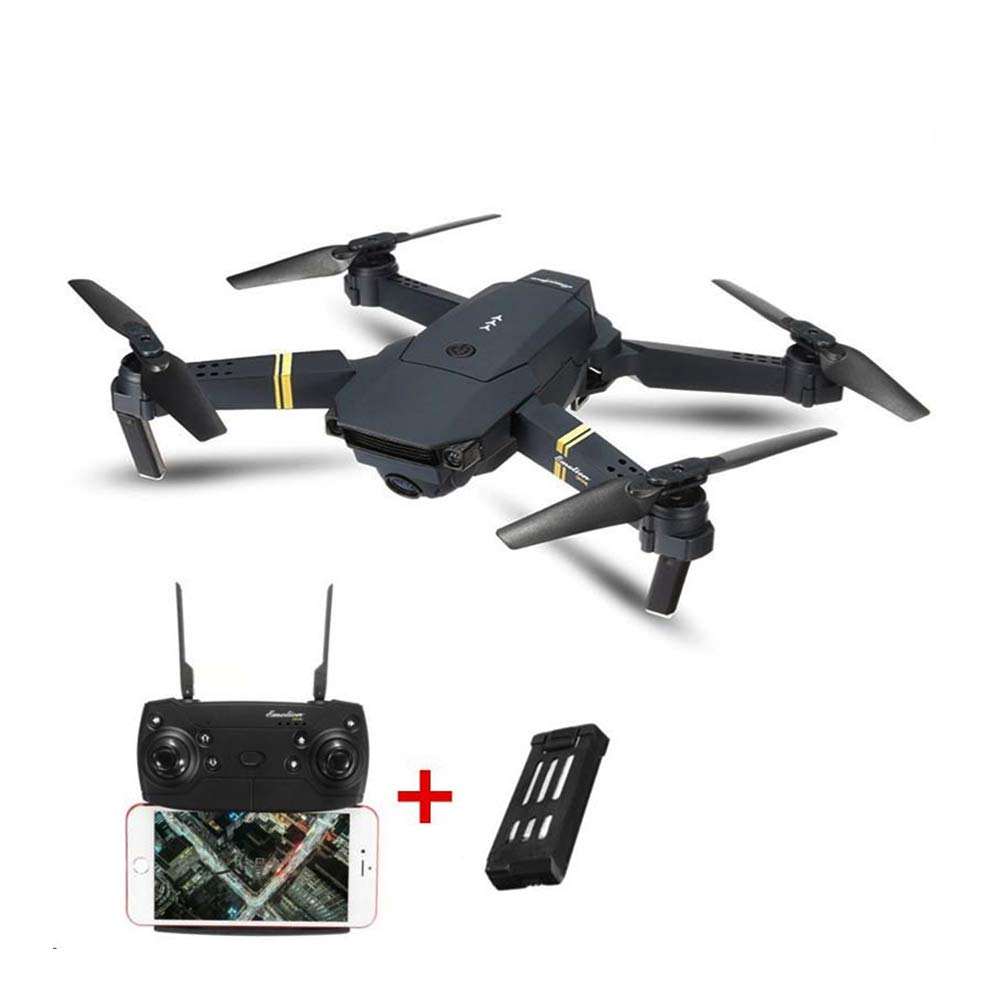 Koeoep GW88 WiFi FPV with Wide Angle 2MP HD Camera High Hold Mode Foldable Arm RC Quadcopter Drone RTF(with Two Batteries)
