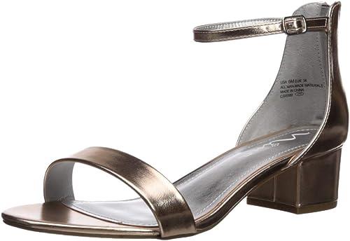 Women 4.5 Nina White Open Toe Buckle Heel Dressy Sandal  Youth Size 3 7 5,5