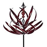 Evergreen 91-inch Waves in Motion Outdoor Safe Kinetic Wind Spinner Garden Stake