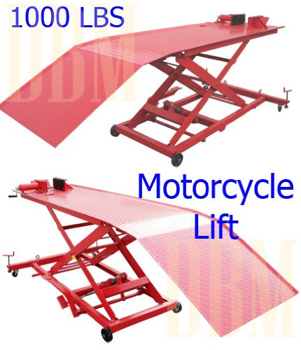 1000 LBS Hydraulic Bike Motorcycle Lift Table Jack Stand ...