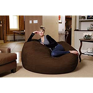 Chill Sack Bean Bag Chair: Huge 5' Memory Foam Furniture Bag and Large Lounger - Big Sofa with Soft Micro Fiber Cover - Chocolate