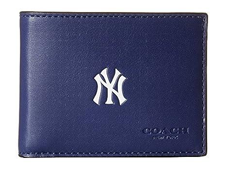 e70eab7465 COACH Men's MLB Slim Billfold Ny Yankees Wallet: Amazon.ca: Sports ...