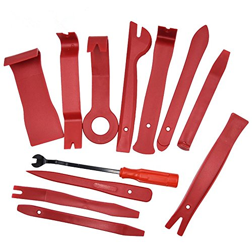 Wilk 12pcs Panel Removal Tool, Premium Auto Trim Upholstery Removal Kit,Door Trim Fastener Remover pry bar set with Durable Nylon Storage Bag by Wilk