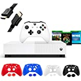 Microsoft Xbox One S 1TB All-Digital Edition Disc-free Console with Wireless Controller  Codes for Minecraft  Sea of Thieves  Fortnite Battle Royale  1-month Live Gold Card- iPuzzle 4 Covers+ 3FT HDMI