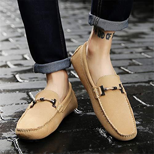 Los Zapato Y one fei Cómodo Gpf La Caída Ligero De beige Suave Primavera Sutura Calzado 39 Moda Fondo Hombres Slip Mocasines Zt51w