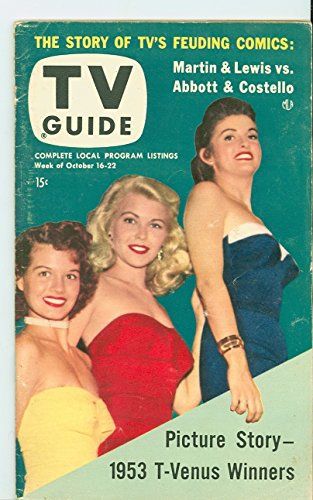 1953 TV Guide Oct 16 Beauty Contest Winners (Angie Dickinson) - NY Metro Edition Excellent (5 out of 10) Lightly Used by Mickeys Pubs