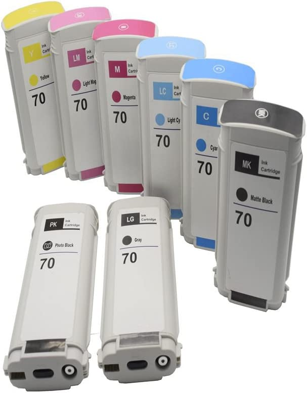 C-Dling Compatible HP70 Ink Cartridges for HP Designjet Z5200 Z2100 Z3100 Z3200 Printer, 8 Pack (MB/PB/G/C/Y/LC/M/LM): Amazon.es: Electrónica