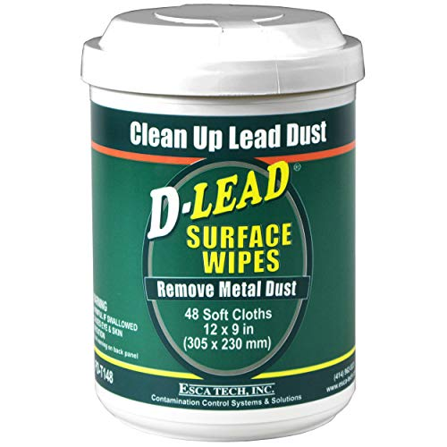 D-Lead Surface Wipes for Lead Paint Dust Cleanup, 48 ct. - Lead Paint Dust