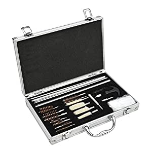 Beileshi 28pcs Universal Gun Cleaning Kit with Carrying Case