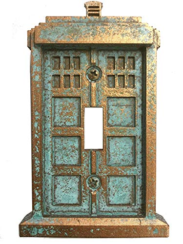 (Tardis (Dr Who) Light Switch Cover (Custom) (Copper/Patina))