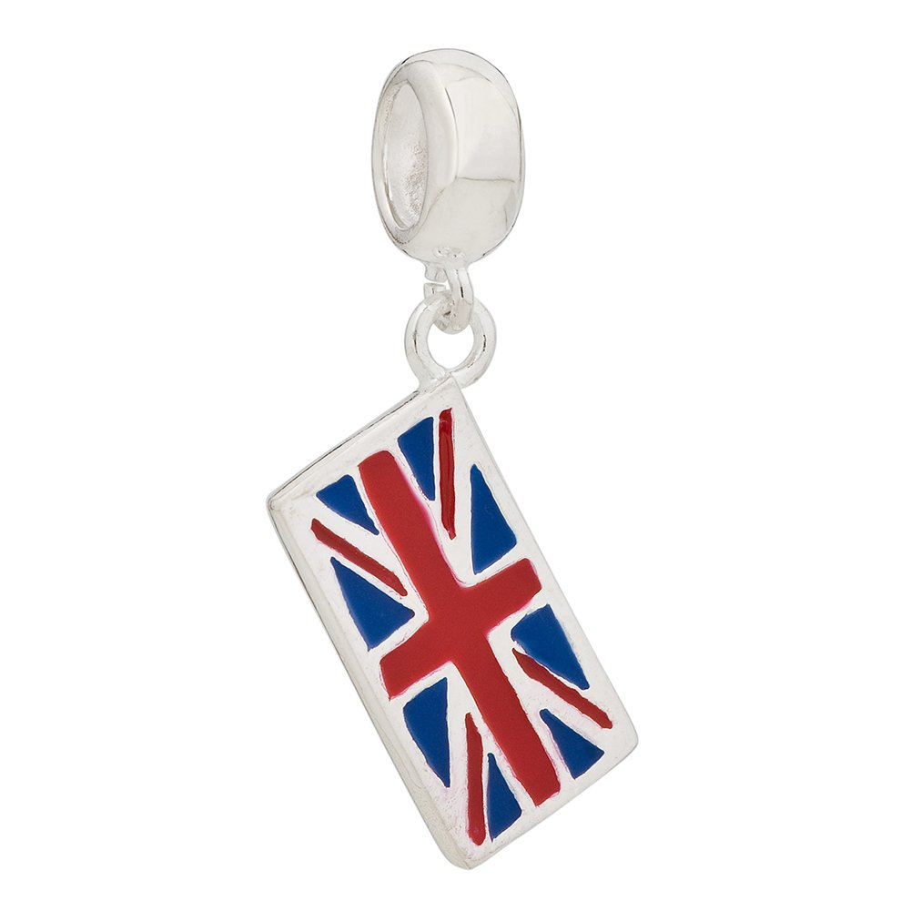 British-Flag-925-Sterling-Silver-Bead-Fit-European-Brand-Charms