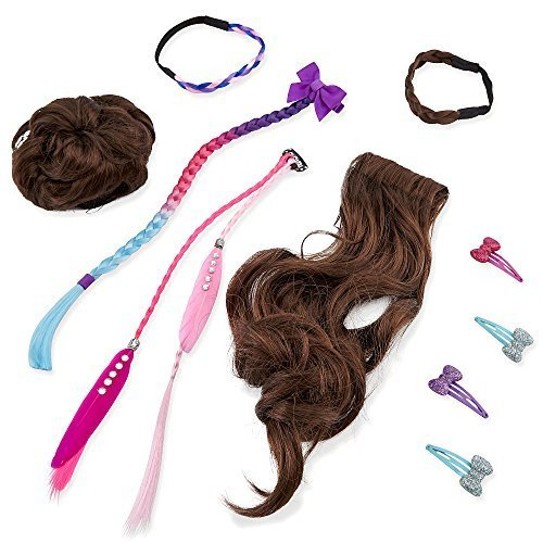 Journey Girls Hair Stylin' Essentials 10 Piece Set- (Stylin Hair Doll)