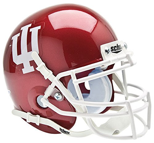 Schutt Indiana Hoosiers Mini XP Authentic Helmet - NCAA Licensed - Indiana Hoosiers Collectibles