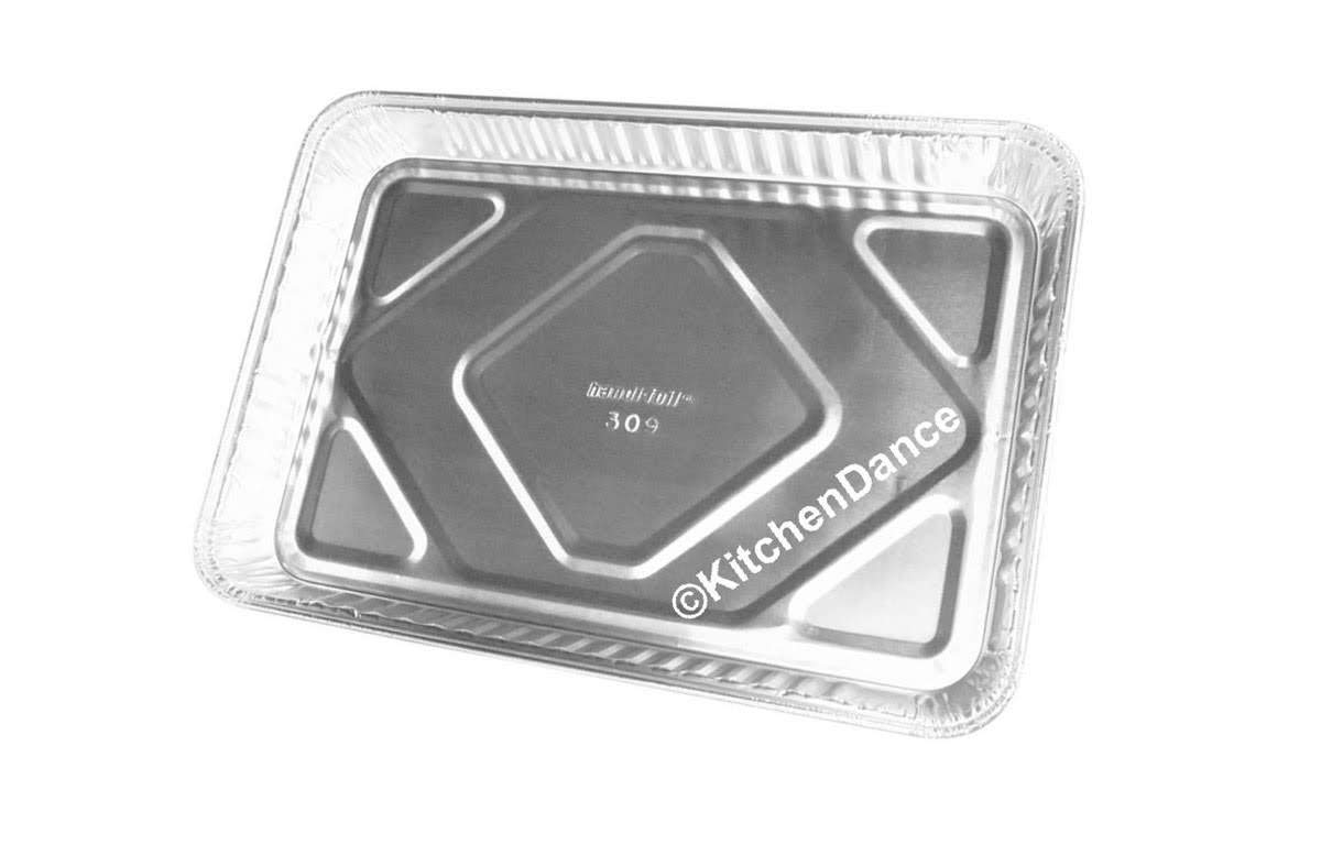 1/4 Size Sheet Cake Pan with Clear Plastic Dome Lid #1200P (100)