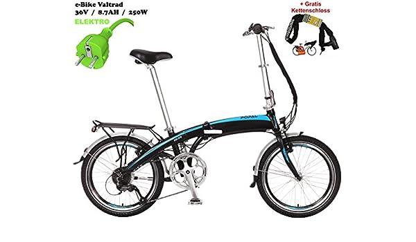 Eléctrico Rueda de bicicleta plegable para/valt folt 7 velocidades Azul + Gratis - Cadena y candado: Amazon.es: Deportes y aire libre