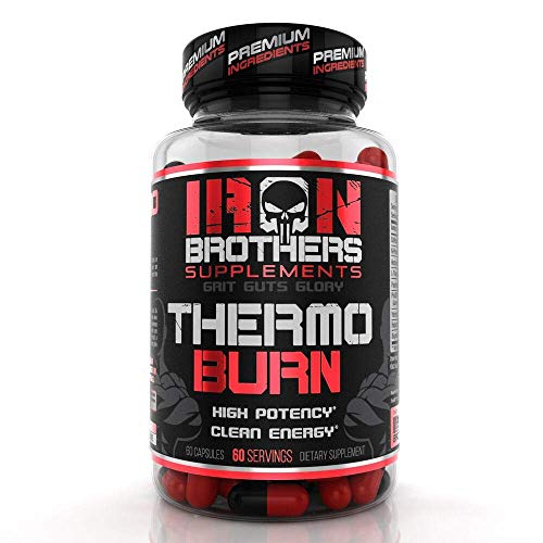 Thermogenic Fat Burners for Men/Women - Hardcore Weight Loss Pills - Appetite Suppressant- Premium Metabolism/Energy Booster - 60 Gel Capsules - Keto Friendly - Iron Brothers Thermo Burn (Clenbuterol Tablets)