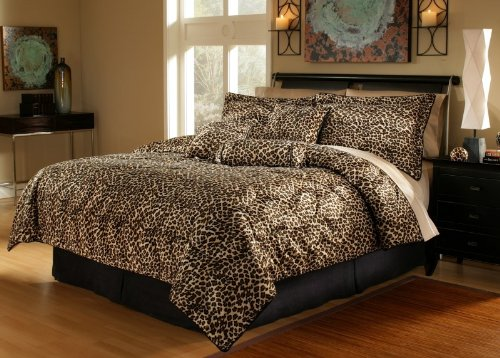 5 Piece Twin Leopard Animal Kingdom Bedding Comforter Set