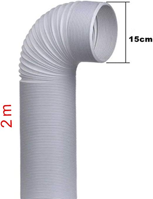 Herewegoo Tubo de Manguera de Escape Conector de Tubo 1.5m x 13cm Kit de Accesorios de Aire Acondicionado para Salida Tubo de Escape sellador de Ventana