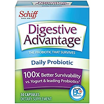 Digestive Advantage Daily Probiotic - Survives Better than 50 Billion - 30 Capsules