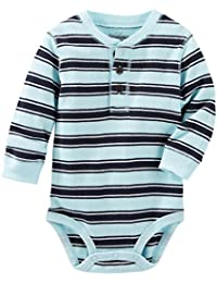OshKosh B'gosh Baby Boys' Thermal Henley Bodysuit (Baby)