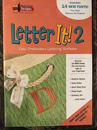 (Amazing Designs Letter It! 2 Easy Embroidery Lettering Software)