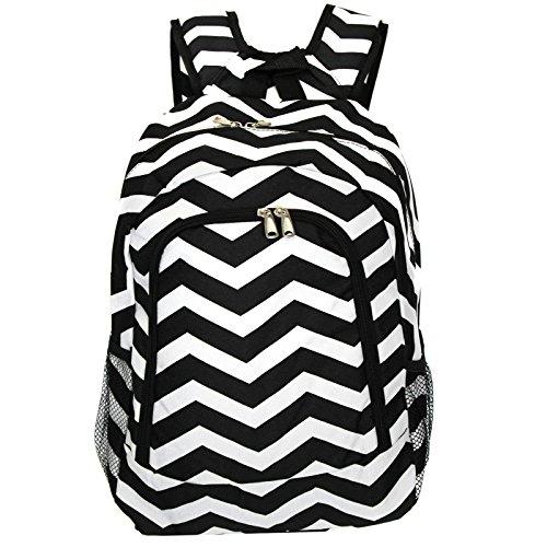 World Traveler Multipurpose Backpack 16-Inch, Black White Chevron, One Size