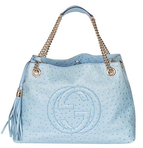 Gucci Ostrich Shoulder Bag