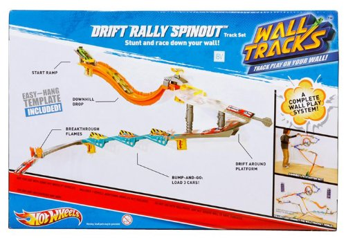 Amazon Hot Wheels Wall Tracks Drift Rally Spinout Track Set