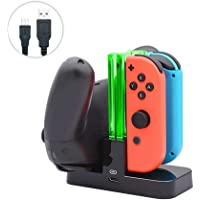 Layopo Pro Controller Charger with a Type-C Charging Cable, Charging Dock for Nintendo Switch Joy-Con Controllers