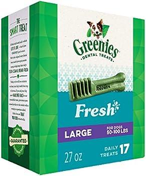 17-Pack Greenies Fresh Natural Dental Dog Treats (27oz)