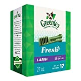 Greenies Large Dental Dog Treats, Fresh Flavor, 27 Oz. Pack (17 Treats), Makes A Great Holiday Dog Gift For Sale