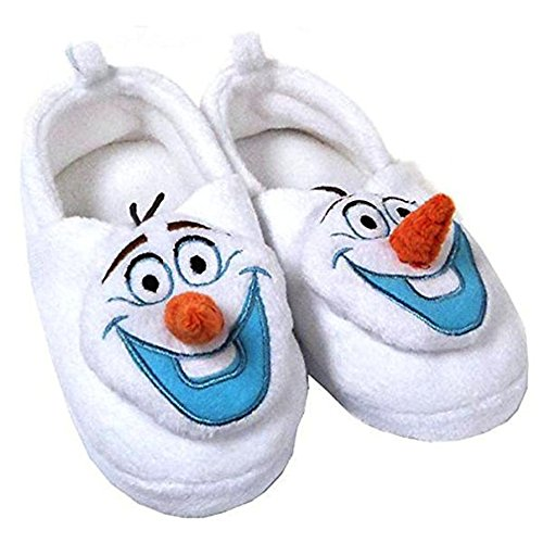 Disney Store Frozen Olaf Plush Slippers for Kids - Size 11/12